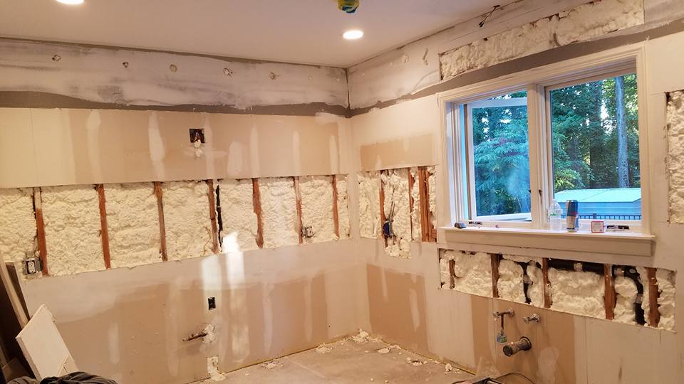 Residential Spray Foam Insulation Application In Hargold Ave Staten - Bathroom renovation staten island ny