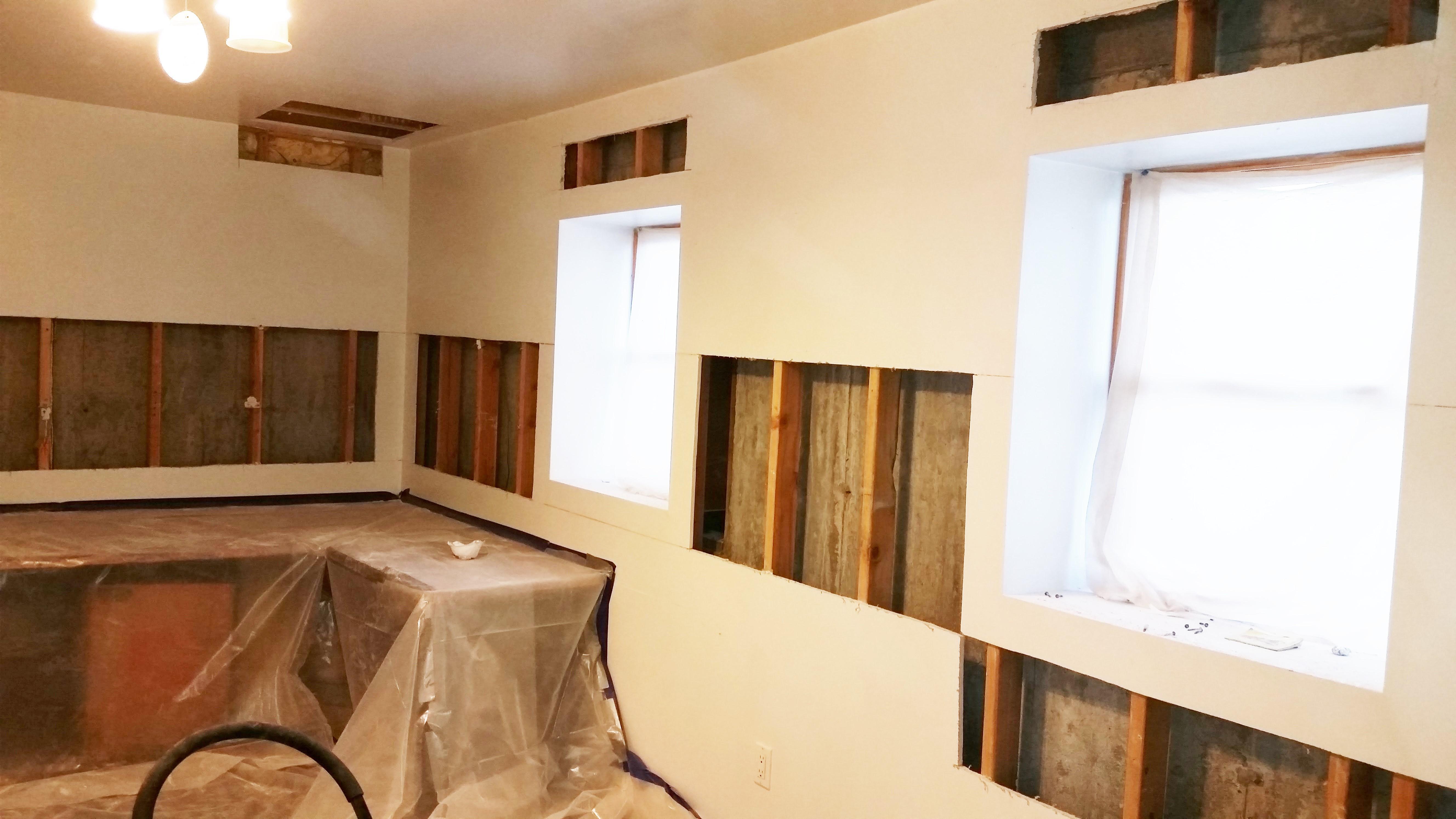 Retrofit Basement Exterior Walls Spray Foam Insulation