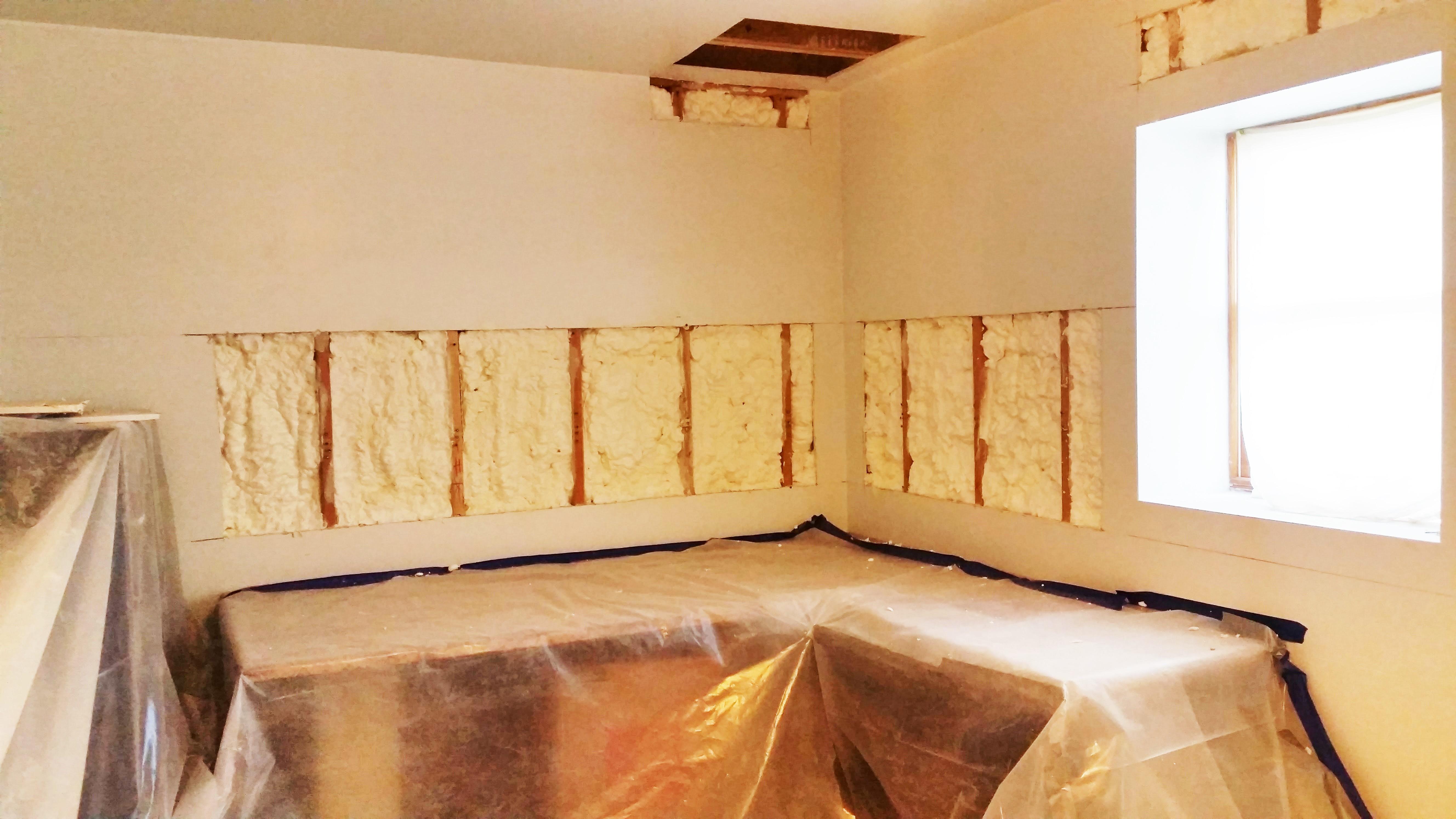 Retrofit Basement Exterior Walls   Spray Foam Insulation NYC Staten Island,  Brookly, Queens,