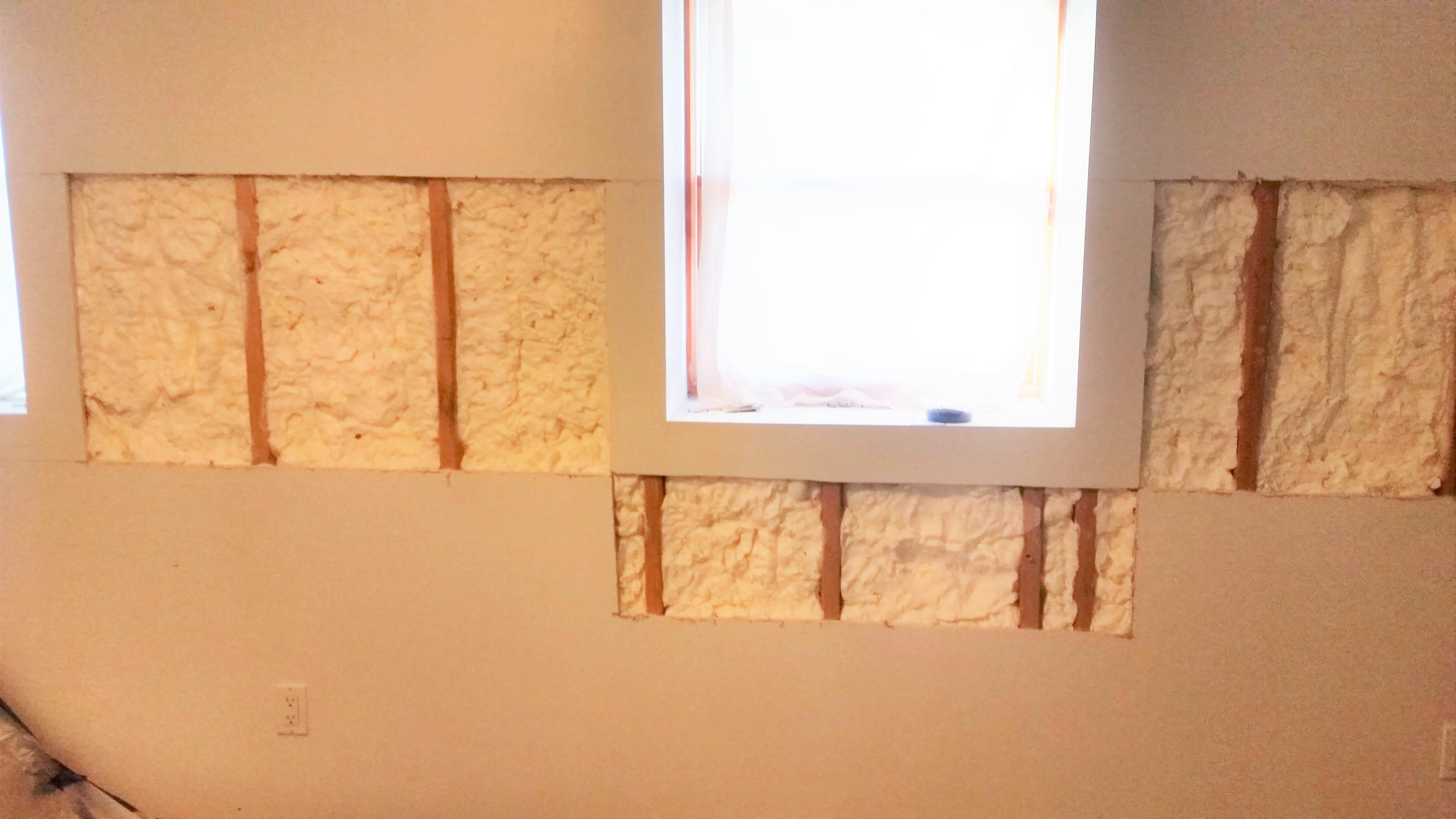 Retrofit basement exterior walls spray foam insulation staten retrofit basement exterior walls spray foam insulation nyc staten island brookly queens solutioingenieria Gallery