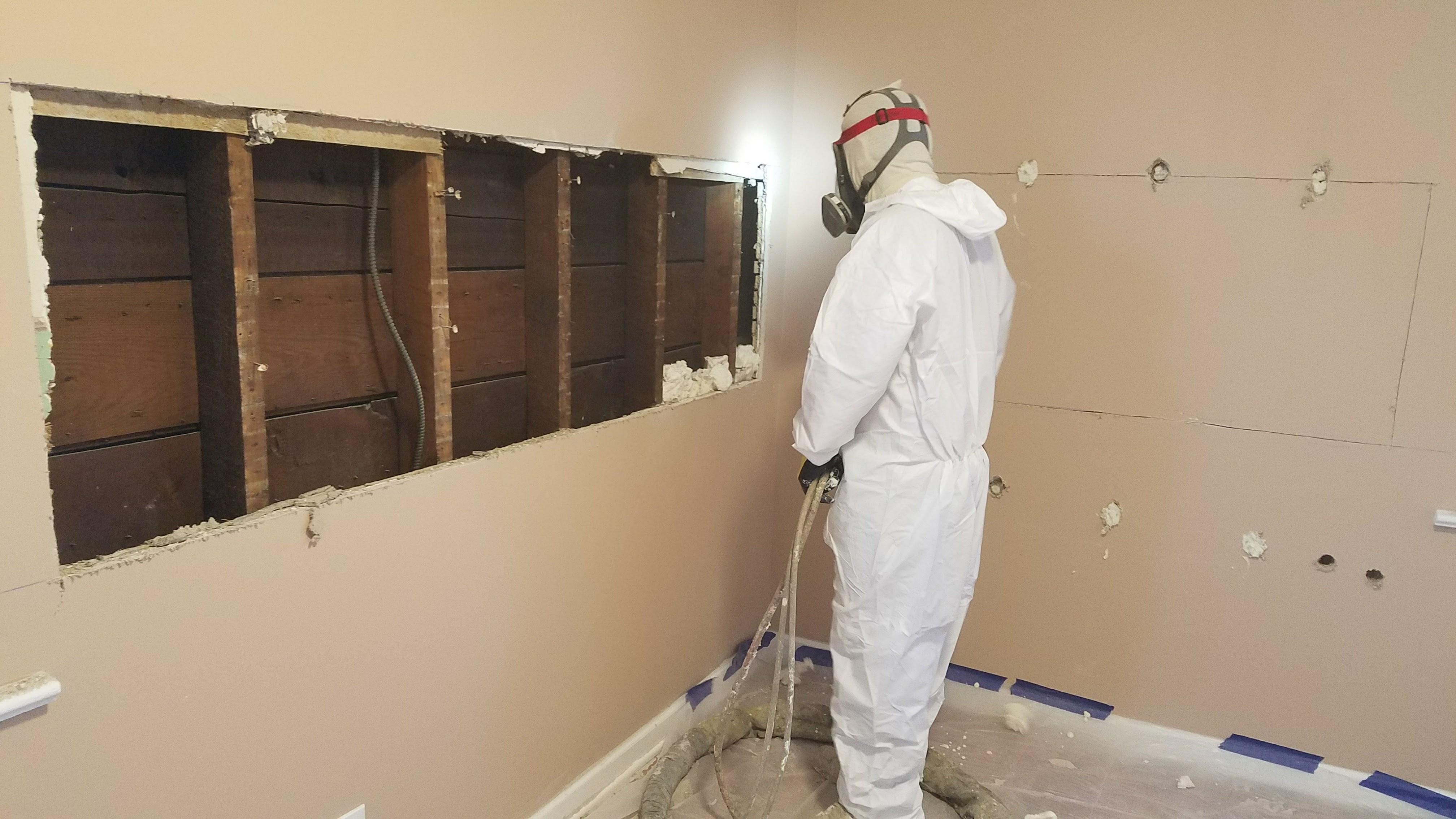 Retrofit insulation for exterior walls spray foam union for Which insulation is better